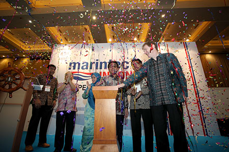 Honk the horn to signaling that Marintec Indonesia 2014 has opened